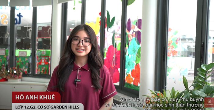Mãi tự hào là học sinh VAS – Hồ Anh Khuê